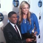 Naveen Jain Presents Jennie Finch with Power of I award